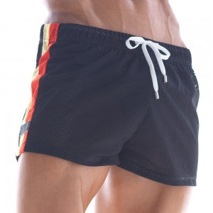 [M2W]  Soccer Swim Short Black (4704-20)