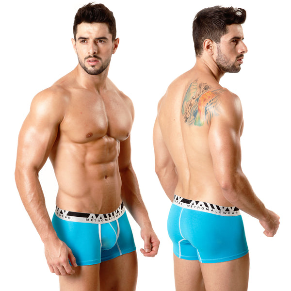 [M2W] Cotton Short Boxer Turquoise 7Inch (3022-08)