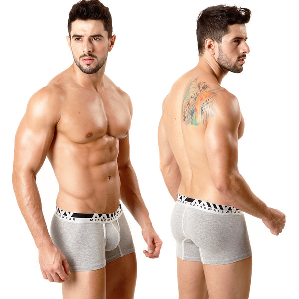 [M2W] Cotton Short Boxer Grey 7Inch (3022-10)
