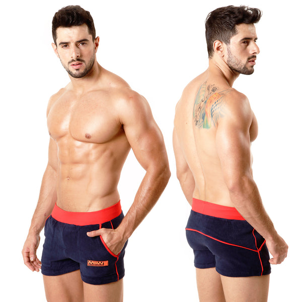 [M2W] Terry Sport Short Navy RED (4701-28)