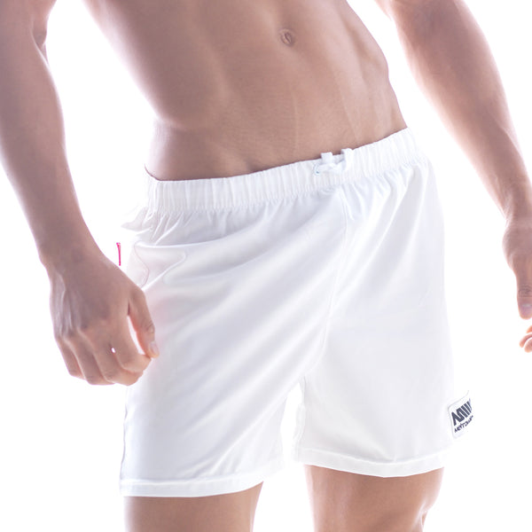 [M2W] Flexible Swim Trunk White (4710-00)