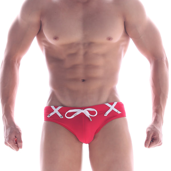 [M2W] Scottish Swim Brief RED (4916-85)