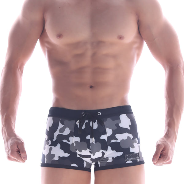 [M2W] Camo Grey Swim Boxer (4926-81)