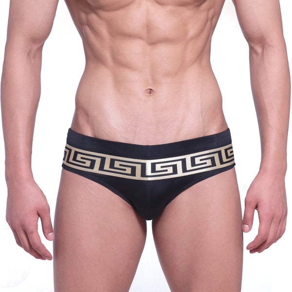 [M2W] Intenso Swim Brief Black-Gold (4966-21)