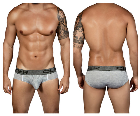 [CLEVER] Mottled Latin Briefs Grey (5315)