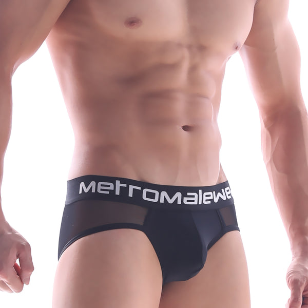 [M2W] Joy Mesh Brief Black (9004-43)