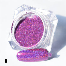 1.5g 1 Box Hot Sale Holographic Glitter Laser Powder Nail Glitter Manicure Nail Art Chrome Pigment DIY Nails- 8 Colors Available
