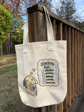 Bunny Grocery List Cotton Tote Bag