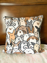 Bunnies Everywhere Twotone Square Pillow