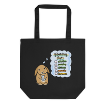 Bunny Grocery List Eco Tote Bag (Orange Lop)