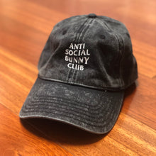 Anti Social Bunny Club Vintage Cotton Twill Cap