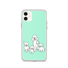 Four White Poodles iPhone Case