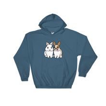 Two Fluffy Sitting Bunnies Hooded Sweatshirt