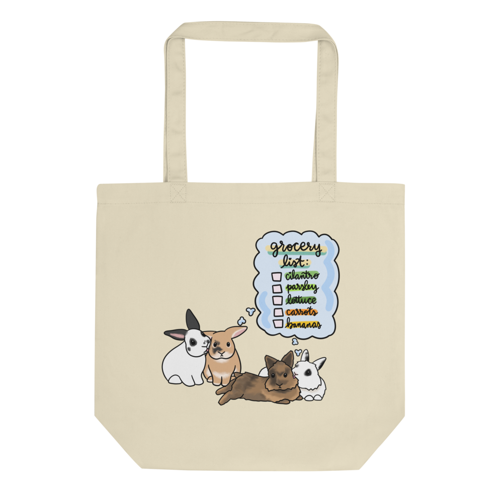 Four Bunnies Grocery List Eco Tote Bag