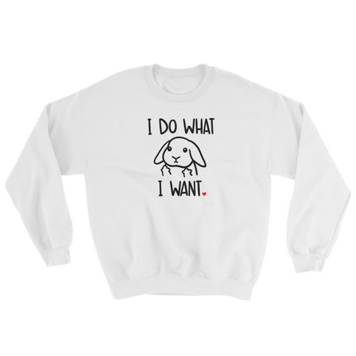I Do What I Want Lop Sweatshirt (Light Colors)