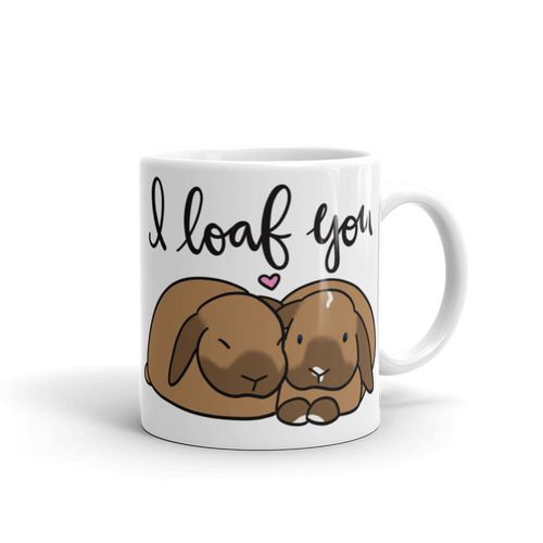 Custom I Loaf You Mug (2 bunnies)