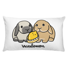 Lemon Baby And Bunny Rectangular Pillow