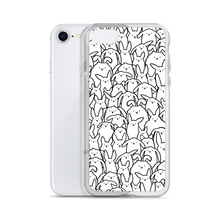 Bunnies Everywhere iPhone Case (Monochrome)