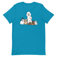 Poodle and Four Bunnies No Hats Unisex T-Shirt