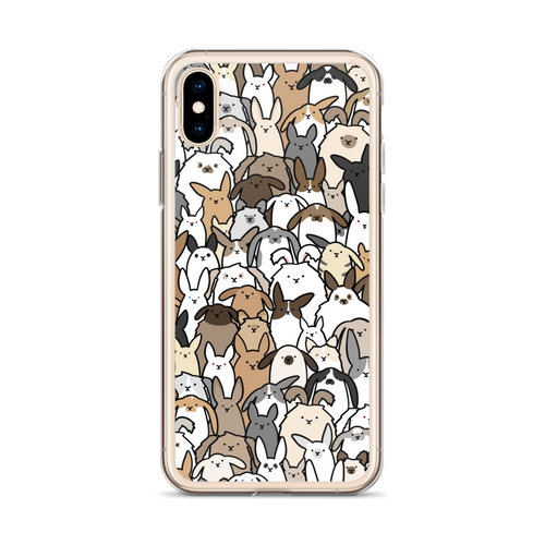 Bunnies Everywhere iPhone Case