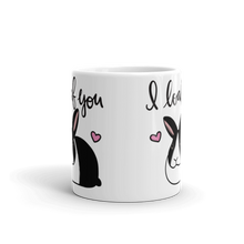 Dutch Bunny I Loaf You Mug (Black)