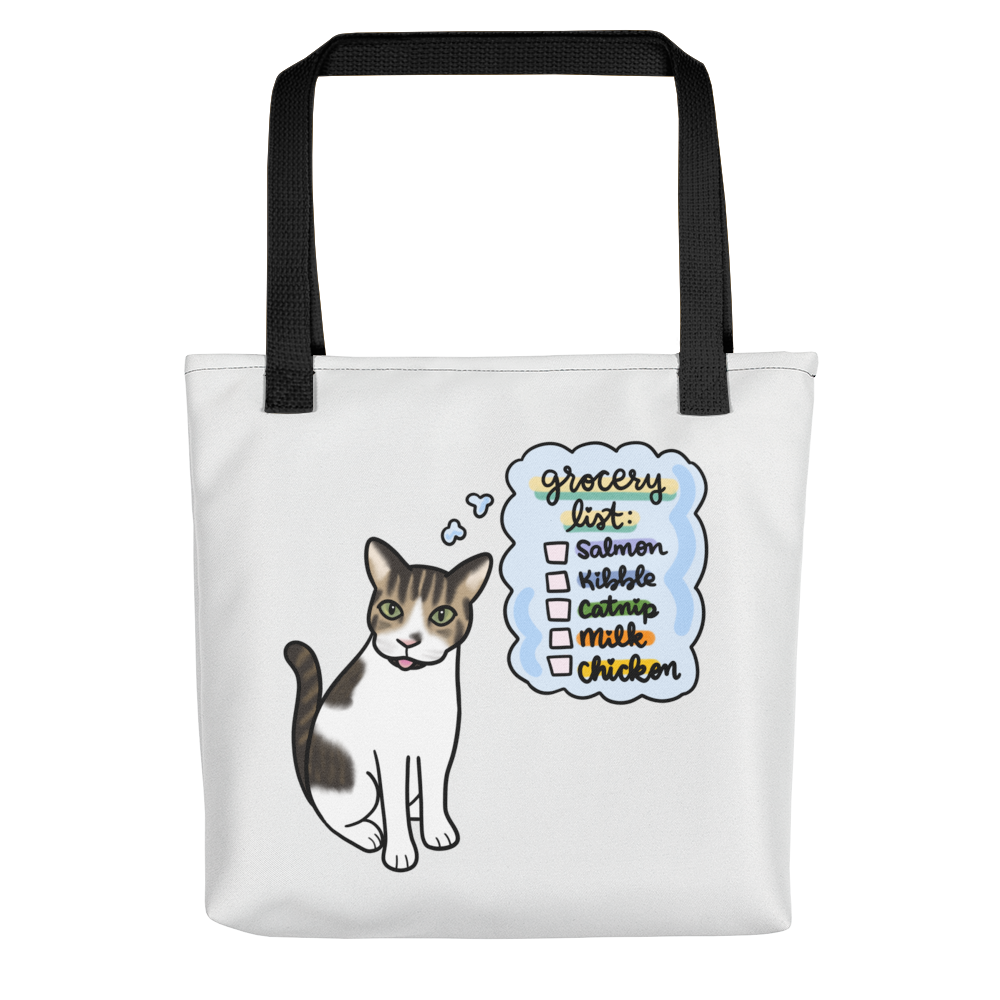 Kitty Grocery List Tote bag