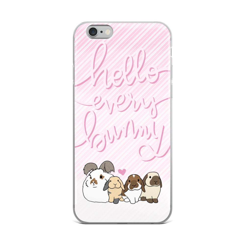 Hello Everybunny iPhone 5/5s/Se, 6/6s, 6/6s Plus Case