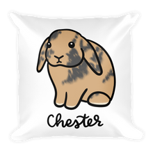 Chester the Bunny Square Pillow