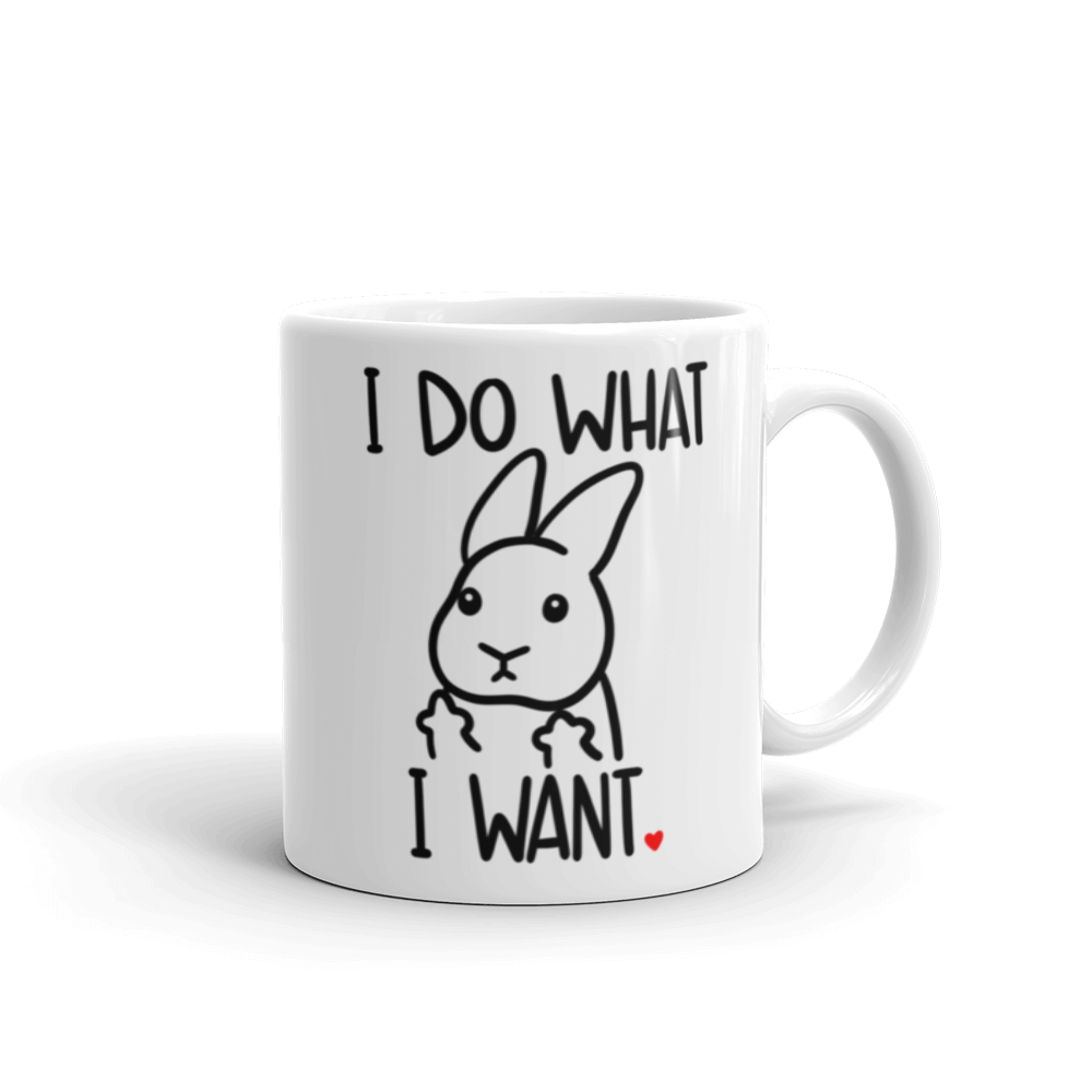 I Do What I Want Uppy Ear Mug