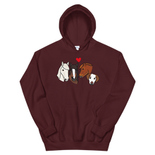 Three Ponies and Pup Unisex Hoodie