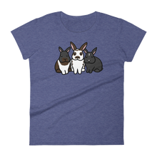 Uppy Ear Bunny Trio Women's T-shirt