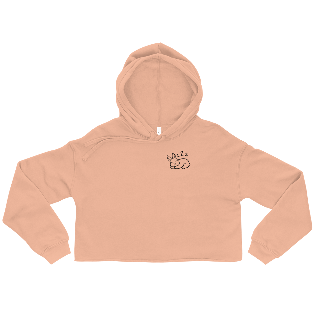 Sleepy Bunny Crop Hoodie (Light Color)