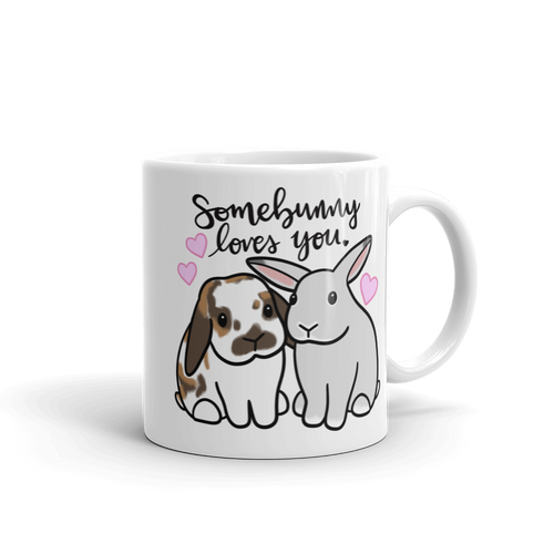 Somebunny Loves You Mug (lop x uppy ear)