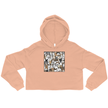 Bunnies Everywhere Colored Crop Hoodie