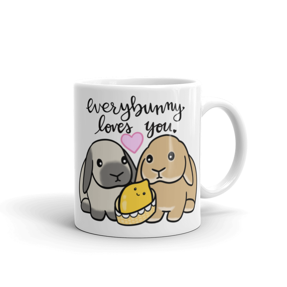 Lemon Baby and Bunny Mug