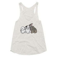 Trio of Bunnies Women's Racerback Tank