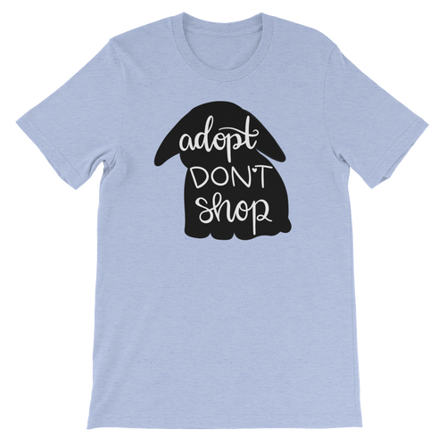 Adopt Don't Shop Unisex T-shirt *Lop Bun*