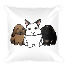 Luna Anders and Bella Square Pillow