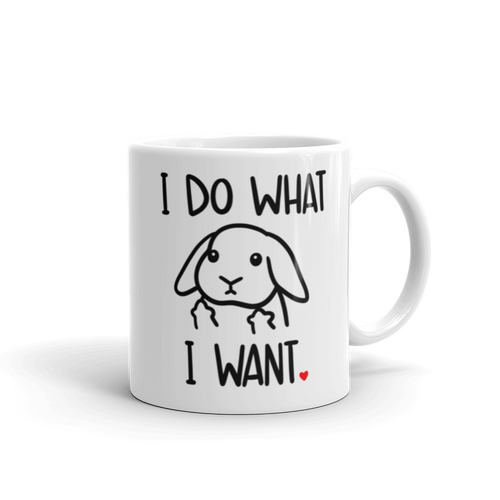 I Do What I Want Lop Mug