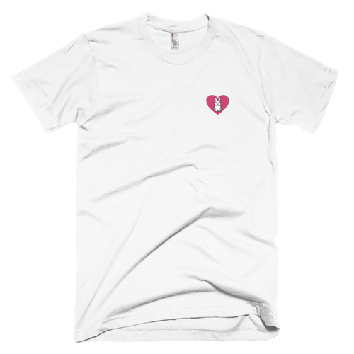 Small Heart Bunny Embroidered T-Shirt