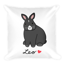 Leo Bunny Square Pillow
