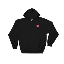 Heart Lop Bunny Embroidered Hooded Sweatshirt