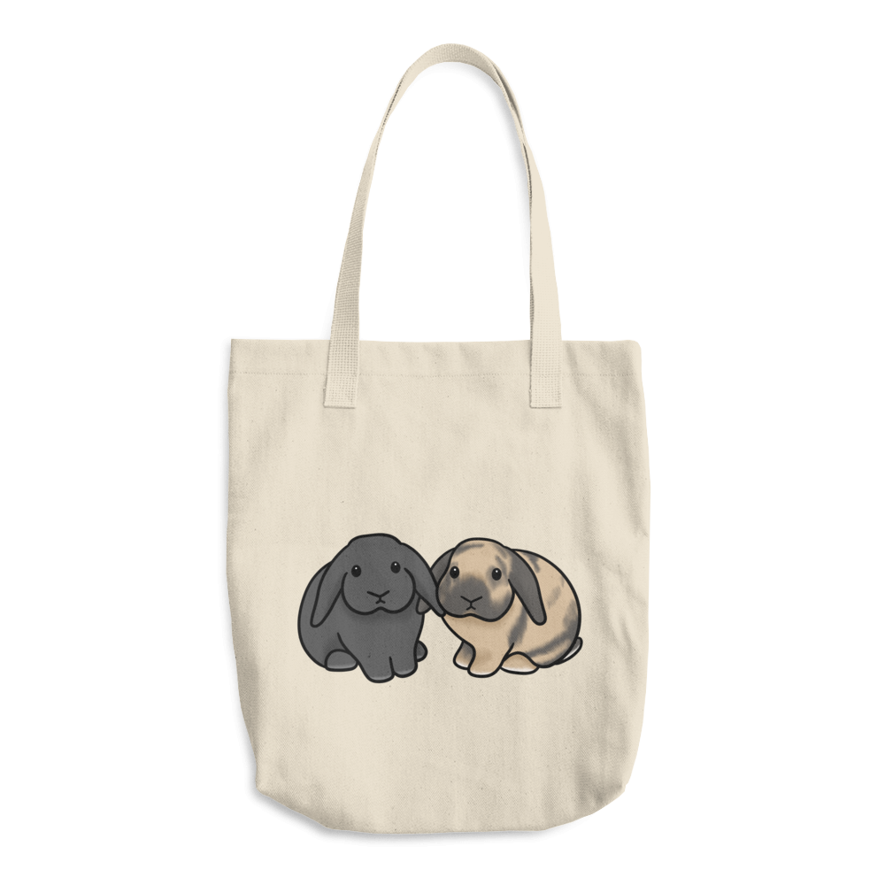 Peaches and Floyd Cotton Tote Bag