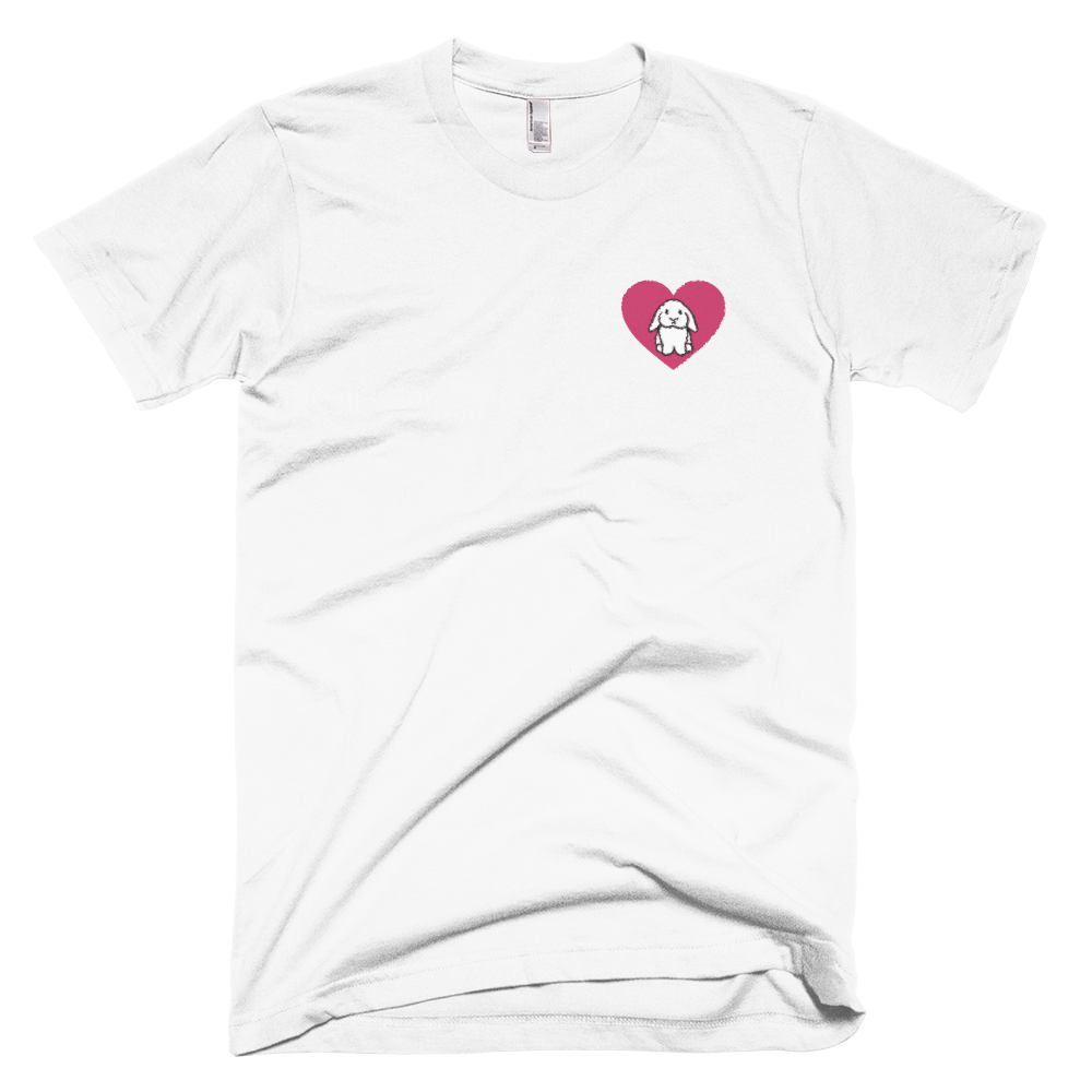 Heart Lop Bunny Embroidered T-Shirt