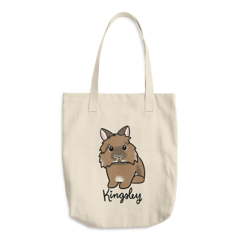 Kingsley the Lionhead Cotton Tote Bag