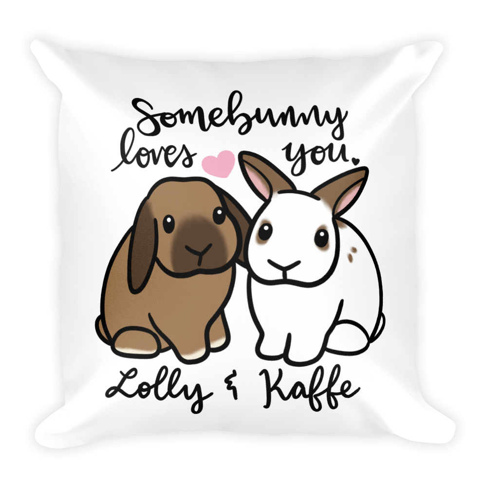 Lolly and Kaffe Square Pillow