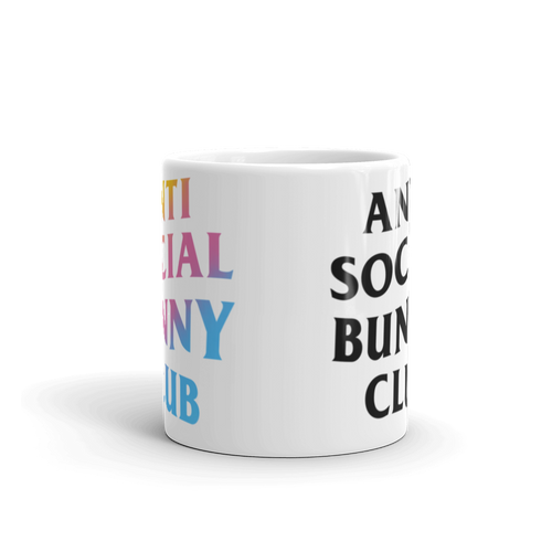 Anti Social Bunny Club Mug (Two Tone)