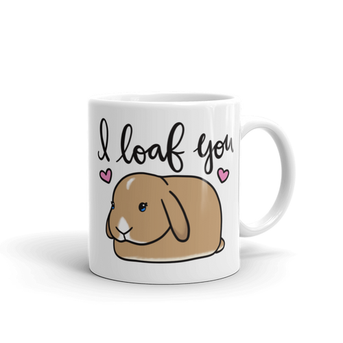 I Loaf You Mug (Orange with Blue Eyes)