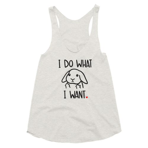 I Do What I Want Lop Women's Racerback Tank