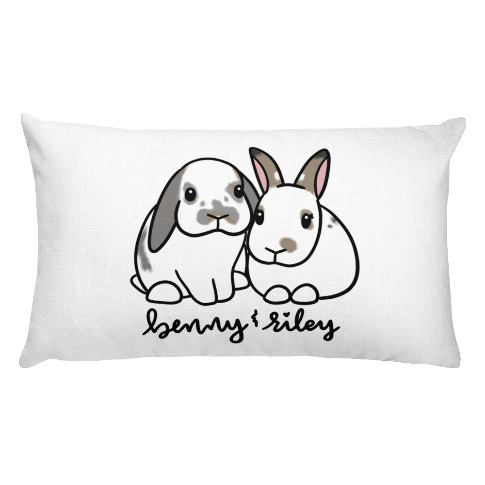 Benny and Riley Rectangular Pillow